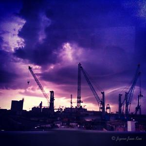 Veracruz dry dock in the morning