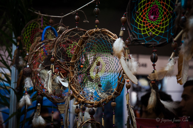 Dream catchers at the market place