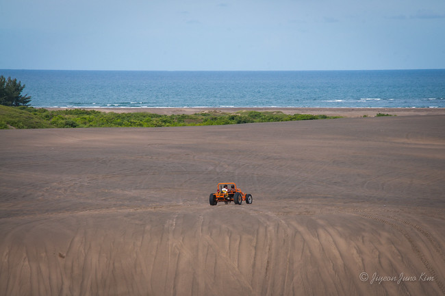ATV on the sand dunes of Chachalacas