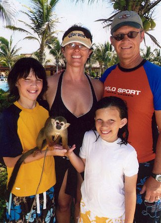 the Marcotte family at the Mayan Riviera, June 2008.
