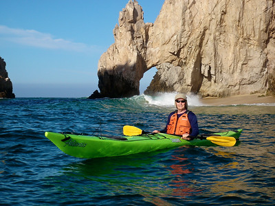 Larry and Casey were up and out early, kayaking 10 miles from the Cabo Arch to Santa Maria beach.