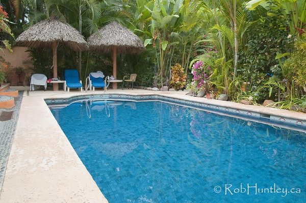 The pool and moring coffee zone at the back (and much more lounging later). Casa Candiles, Ixtapa, Mexico © Rob Huntley