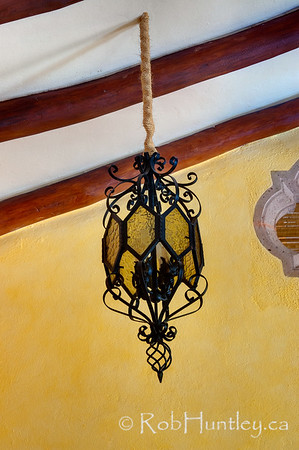 One of many interesting chandeliers and light fixtures at Casa Candiles, Ixtapa, Mexico © Rob Huntley