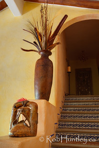 Stairs to the second floor. Casa Candiles, Ixtapa, Mexico © Rob Huntley