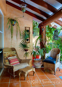 One of the most comfortable wicker chairs I have sat down in. Casa Candiles, Ixtapa, Mexico © Rob Huntley