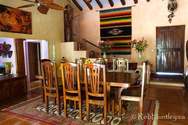 The dining room at Casa Candiles, Ixtapa, Mexico. We ate all breakfasts on the patio though. © Rob Huntley
