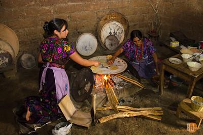 making tortilla