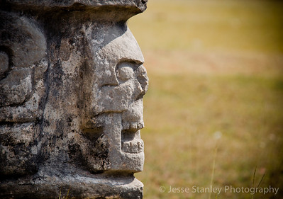 Detail from the Platform of Skulls, Chichen Itza