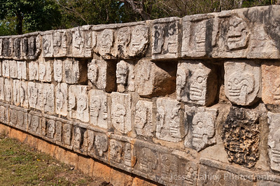 Tzompantli or the Platform of Skulls, Chichen Itza