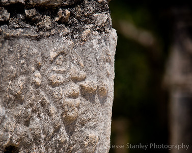 Carved face, El Mercado, Chichen Itza