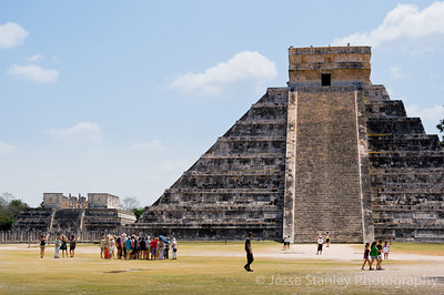 El Castillo with The Temple of the Warriors in the background, Chichen Itza