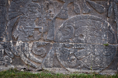 Detail of one of the murals of ball players at the Great Ball Court, Cichen itza