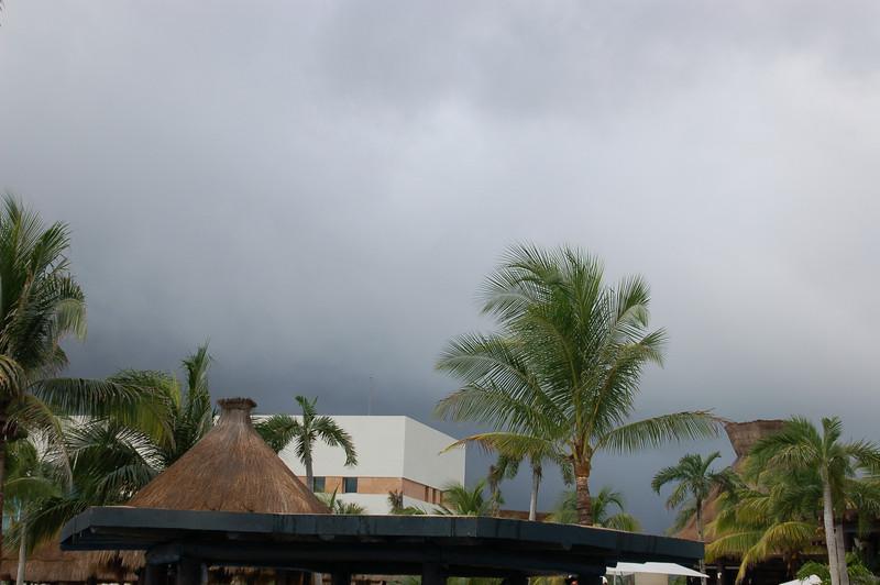 Just a few clouds!