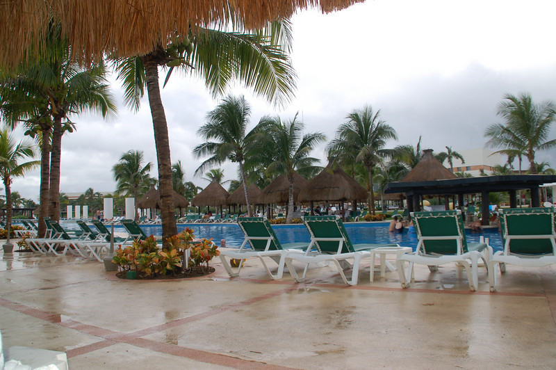 It rained one day, but it didn't stop anyone from having fun at the pool bar or anywhere else.