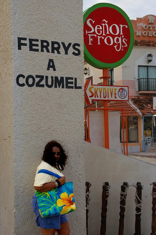 Returning from Cozumel, stopping at Senor Frog's for drinks