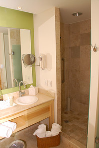 Second bedroom  different view of the Marble bathroom with  shower