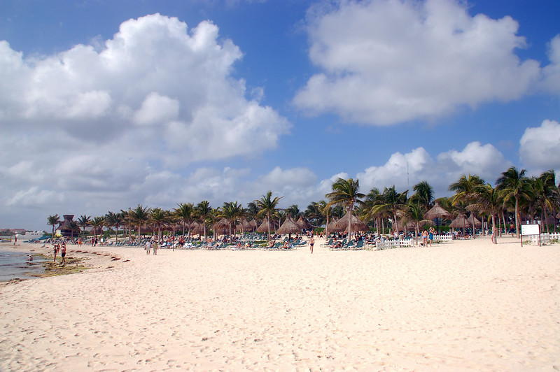 Beach  area was never crowded
