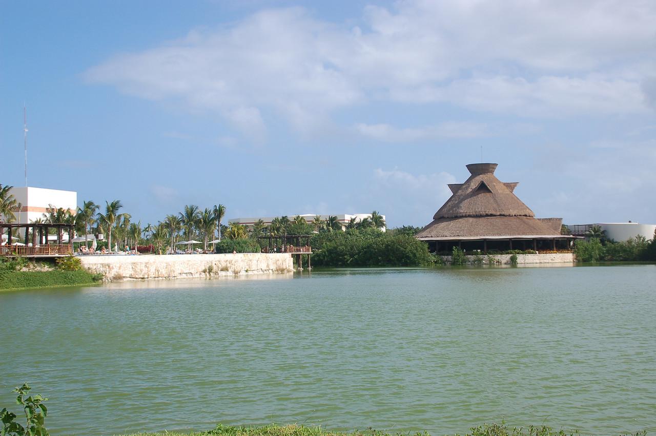 View of the Del Lago restaurant  -  far right.
