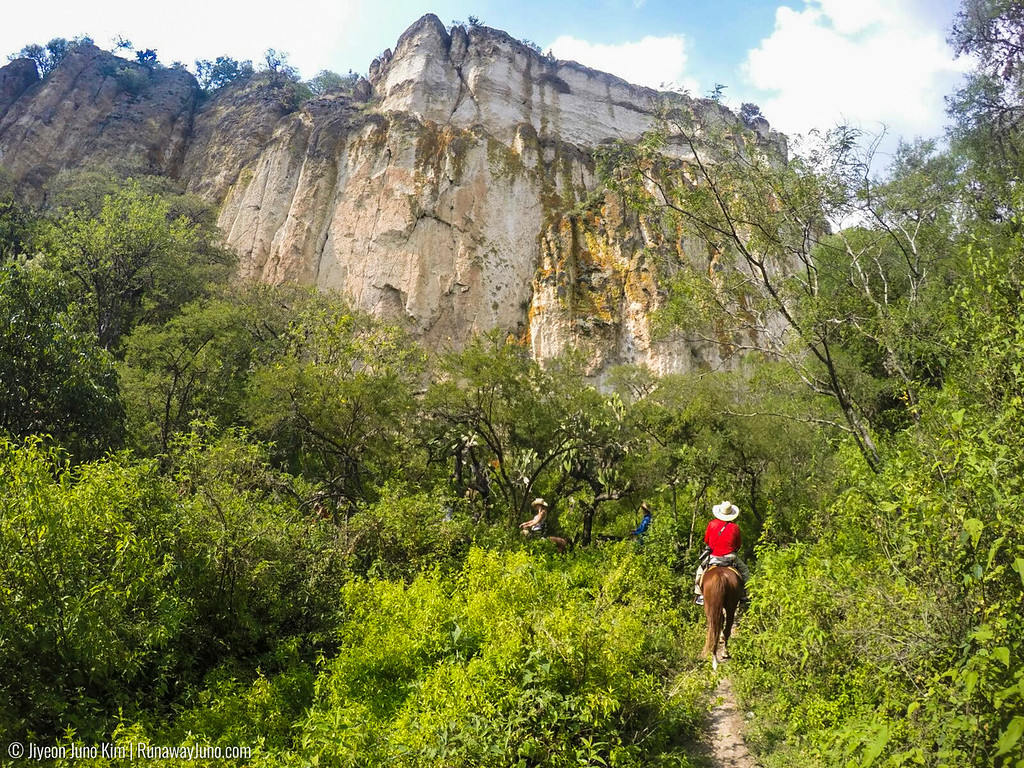 Horseback riding in Coyote Canyon, Guanajuato, Mexico