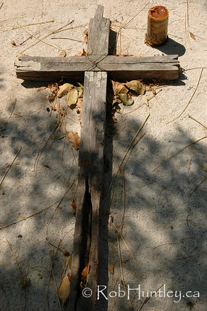 Old grave marker in a cemetery in Santa Maria Huatulco, Mexico. © Rob Huntley