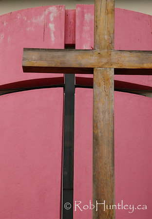 Cross outside a chapel in Santa Cruz Huatulco, Mexico.