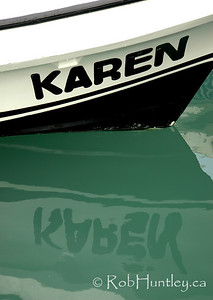 A boat with the name Karen at the marina in Santa Cruz, Huatulco, Mexico. © Rob Huntley