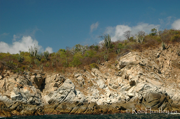 Desert Shoreline. Sky, desert, beach, sea. Shoreline near Huatulco, Mexico. © Rob Huntley