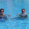 The Blues Brothers hangin' in the pool!