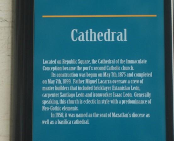 Beautiful cathedral in Old Mazatlan.