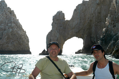 On a glass-bottom boat near the Arch, Cabo