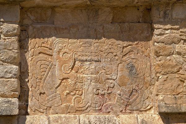 Reliefs at the platform of Venus, Chichén Itzá, Yucatán, Mexico