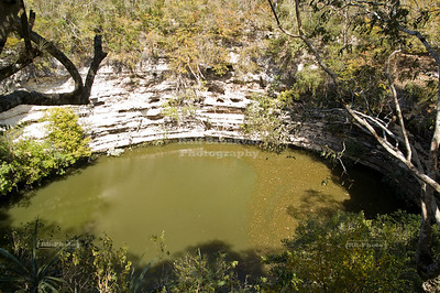 Cenote Sagrado - Sacred Cenote in Chichén Itzá, Yucatán, Mexico, also called the Sacred Well or Well of Sacrifice