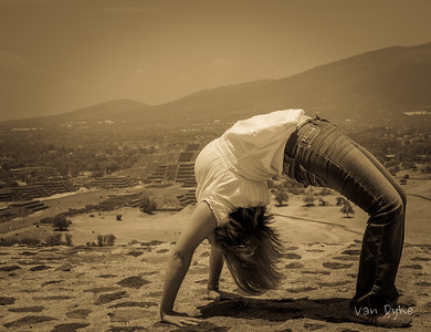 Yoga at the pyramids