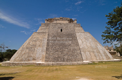 The Pyramid of the Magician at Uxmal, Yucatan, Mexico