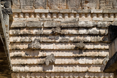 Tempel of the birds in Uxmal, Yucatan, Mexico