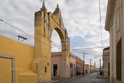 Street arch in Merida, Yucatan, Mexico