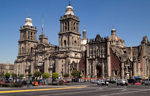 Catedral Metropolitana - The Metropolitan Cathedral, Zocalo, Mexico City, Mexico