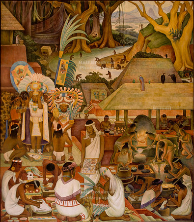 Diego Rivera Mural at the National Palace in Mexico City, Mexico