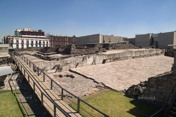 Templo Mayor –- Ruins of the Great Aztec Temple of Tenochtitlan, Mexico City, Mexico