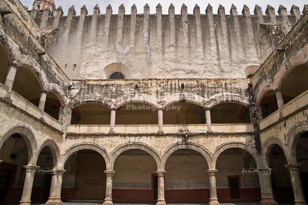Atrium of the former convent at Cuernavaca Cathedral - Catedral de Cuernavaca - Morelos, Mexico