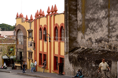 Typical street in Cuernavaca, Mexico