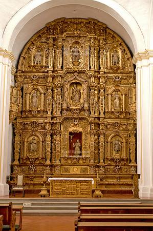 Main altar of the Parish of Nuestra Señora de Guadalupe, Cuernavaca, Mexico