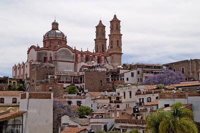 Parish of Santa Prisca y San Sebastián (Santa Prisca Church) in Taxco de Alarcón, Gerrero, Mexico