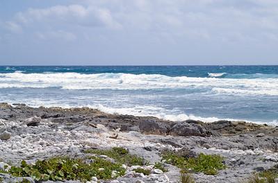 Caribbean surf at Xel-Ha, Yucatan, Mexico