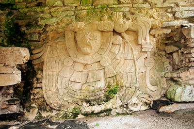 Ruins of the old Mayan city Palenque