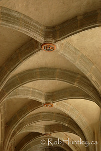 Ceiling detail in the cloister of the Church of Santo Domingo, Oaxaca, Mexico.