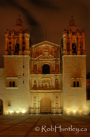 Church and former monastery of Santo Domingo, Oaxaca, Mexico.