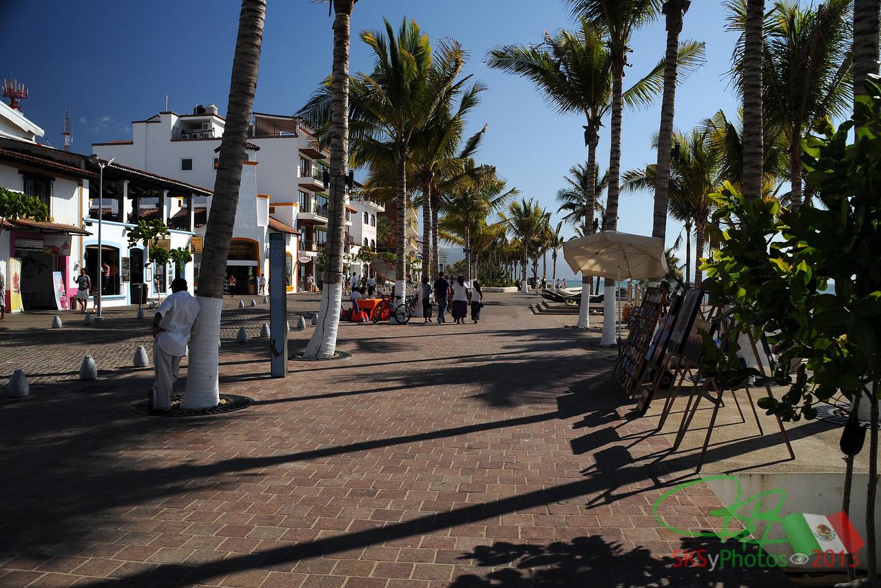 North end of the Malecon in Puerto Vallarta, Mexico.  April 2013