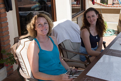 Dana & Kristin on the balcony in Las Gaviotas, BC, Mexico