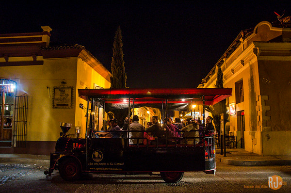 Touring San Cristobal by trolley